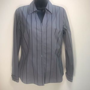 KENNETH COLE REACTION V-Neck Striped Top, Size 4